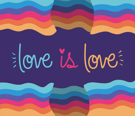 love is love between lgbt flag design, sexual orientation and identity theme Vector illustration  イラスト・ベクター素材