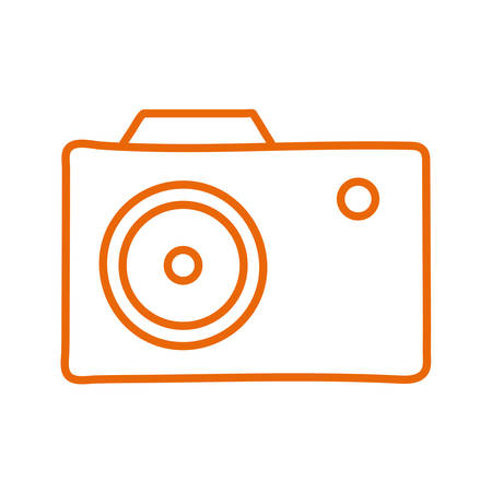 Camera line style icon design, Gadget technology photography equipment digital photo focus and electronic theme Vector illustration