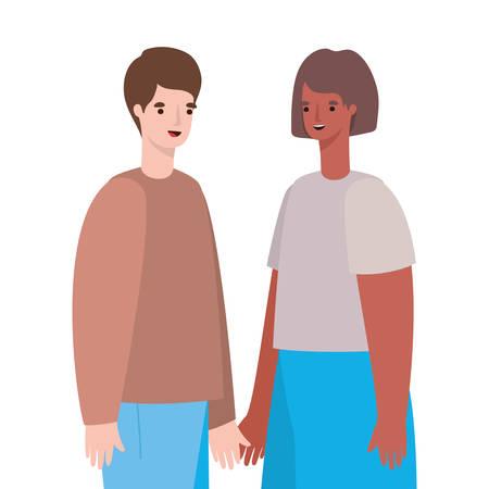 Woman and man avatar cartoon design, Person people and human theme Vector illustration Standard-Bild - 147782680