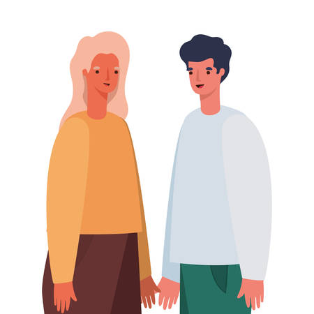 Woman and man avatar cartoon design, Person people and human theme Vector illustration Illustration