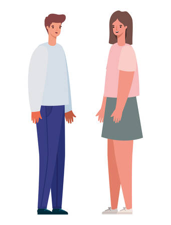 Woman and man avatar design, Person people and human theme Vector illustration