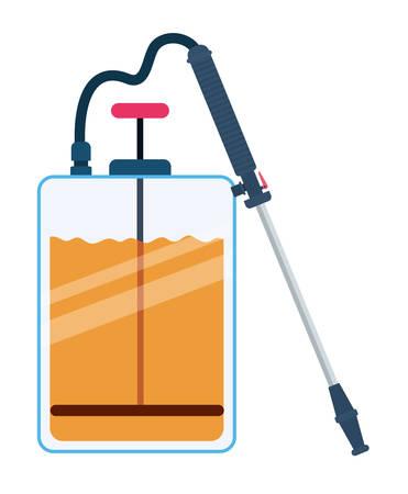 Pulverizer spray bottle design, Hygiene wash health and clean theme Vector illustration