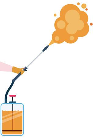 Pulverizer spray bottle with smoke design, Hygiene wash health and clean theme Vector illustration Stok Fotoğraf - 147918772