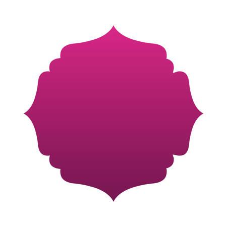 Purple gradient frame banner design, Label tag product decoration sale card emblem invitation and premium theme Vector illustration