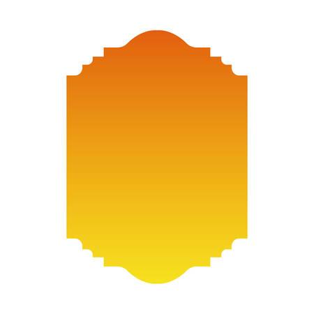 yellow and orange gradient frame banner design, Label tag product decoration sale card emblem invitation and premium theme Vector illustration Stok Fotoğraf - 147918776