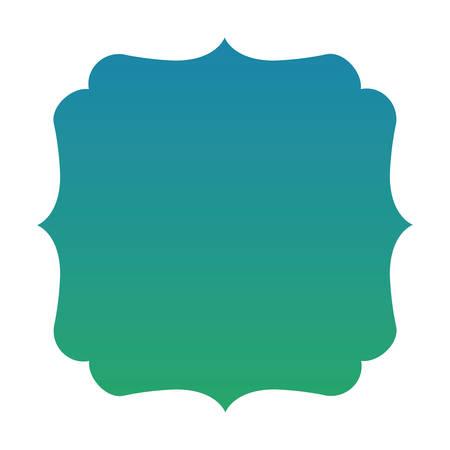 Blue and green gradient frame banner design, Label tag product decoration sale card emblem invitation and premium theme Vector illustration Çizim