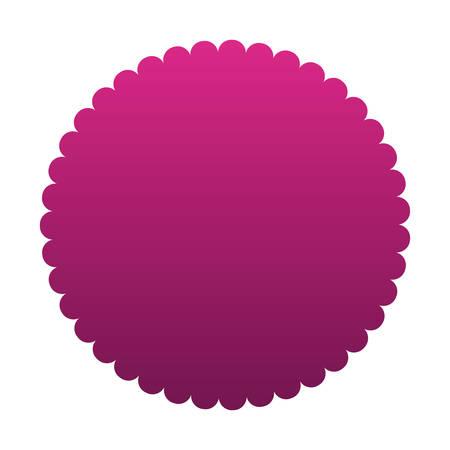 Purple gradient seal stamp banner design, Label tag product decoration sale card emblem invitation and premium theme Vector illustration Stok Fotoğraf - 147918868