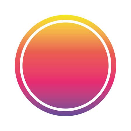 Purple pink orange and yellow gradient circle banner design, Label tag product decoration sale card emblem invitation and premium theme Vector illustration