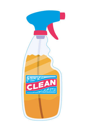 Clean spray bottle design, Hygiene wash health and clean theme Vector illustration