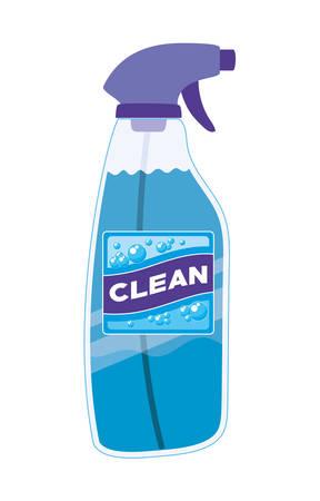 Clean spray bottle design, Hygiene wash health and clean theme Vector illustration Stok Fotoğraf - 147918899