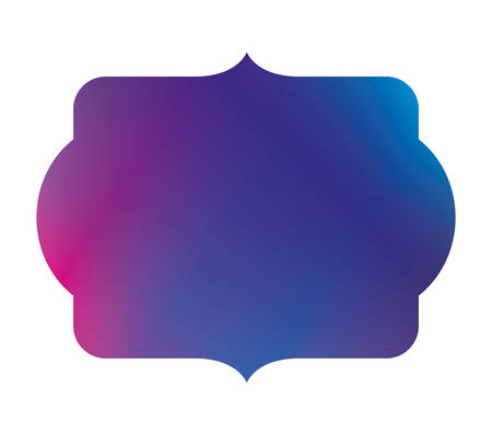Blue and purple gradient frame banner design, Label tag product decoration sale card emblem invitation and premium theme Vector illustration Stok Fotoğraf - 147919202