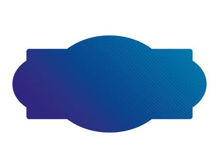 Blue gradient frame banner design, Label tag product decoration sale card emblem invitation and premium theme Vector illustration