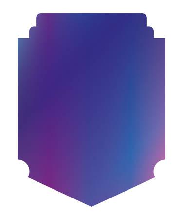 Blue and purple gradient frame banner design, Label tag product decoration sale card emblem invitation and premium theme Vector illustration