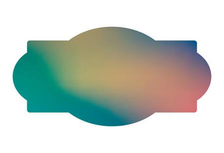 Blue and light gradient frame banner design, Label tag product decoration sale card emblem invitation and premium theme Vector illustration