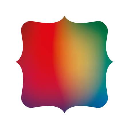 Colored gradient frame banner design, Label tag product decoration sale card emblem invitation and premium theme Vector illustration