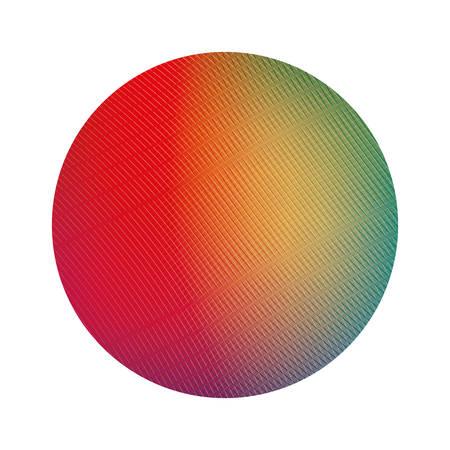 Colored gradient circle banner design, Label tag product decoration sale card emblem invitation and premium theme Vector illustration