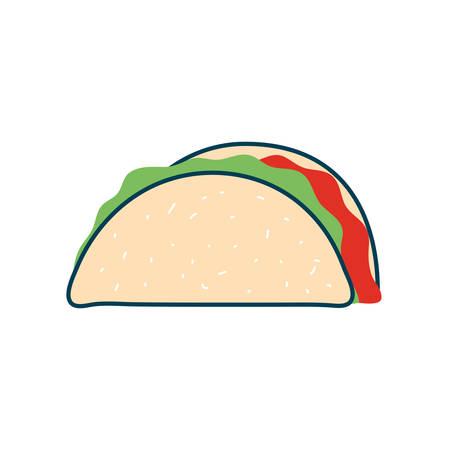 taco flat style icon design, food eat restaurant and menu theme Vector illustration