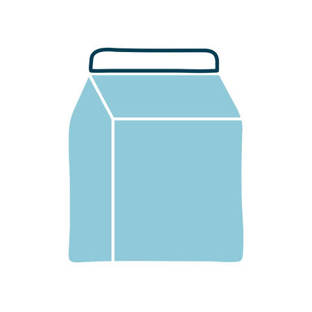milk box flat style icon design, dairy breakfast and food theme Vector illustration