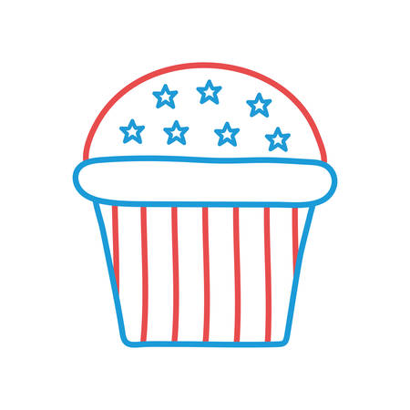 Cupcake line and fill style icon design, Muffin dessert sweet bakery sugar pastry and food theme Vector illustration