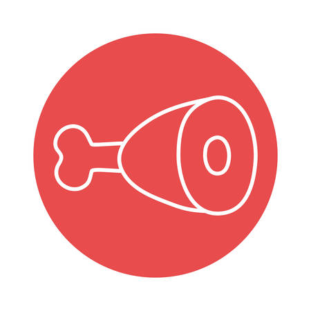 meat block style icon design, food eat restaurant and menu theme Vector illustration Ilustração