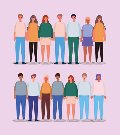 Women and men avatars design, Person people and human theme Vector illustration