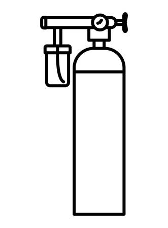 Oxygen cylinder design, Emergency rescue save department danger help safety and aid theme Vector illustration  イラスト・ベクター素材
