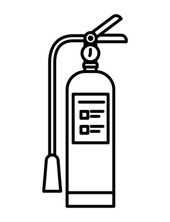 Extinguisher design, Emergency rescue save department danger help safety and aid theme Vector illustration 写真素材 - 148847767
