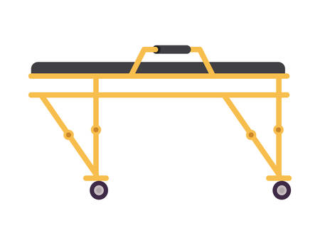Stretcher design, Emergency rescue save department danger help safety and aid theme Vector illustration 写真素材 - 148847998