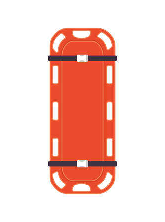 Orange stretcher design, Emergency rescue save department danger help safety and aid theme Vector illustration 写真素材 - 148848521