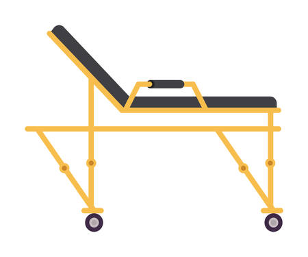 Stretcher design, Emergency rescue save department danger help safety and aid theme Vector illustration 写真素材 - 148848589