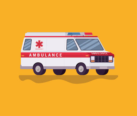 Ambulance paramedic car side view design, Life guard emergency and rescue theme Vector illustration 写真素材 - 148889738