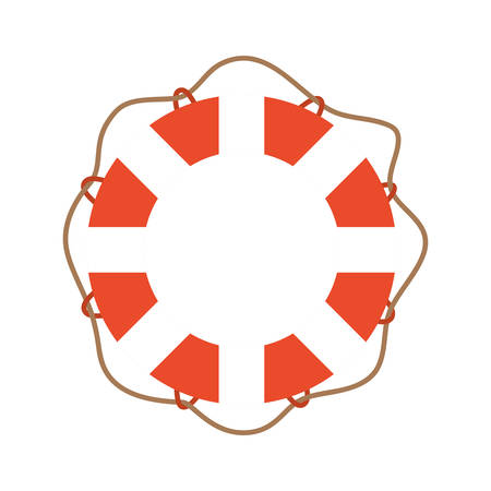 Lifebuoy design, Emergency rescue save department danger help safety and aid theme Vector illustration