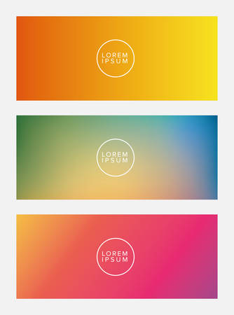 Colorful gradient backgrounds frames with circle place for text, Abstract texture art and wallpaper theme Vector illustration Vectores