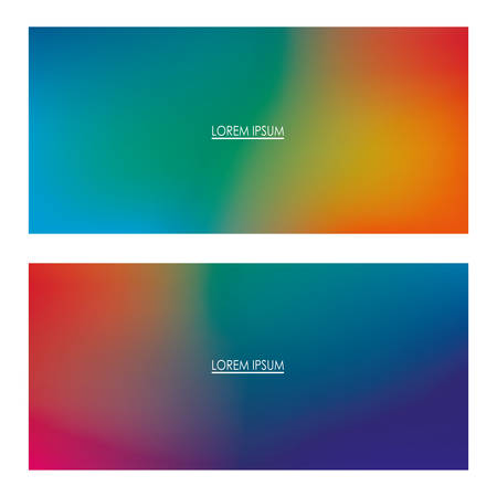Colorful gradient backgrounds frames with place for text, Abstract texture art and wallpaper theme Vector illustration Vectores