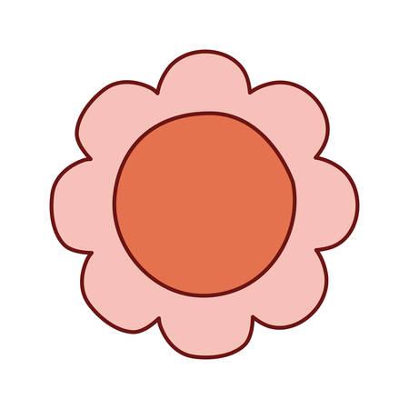 flower design, natural floral nature plant ornament garden decoration and botany theme Vector illustration