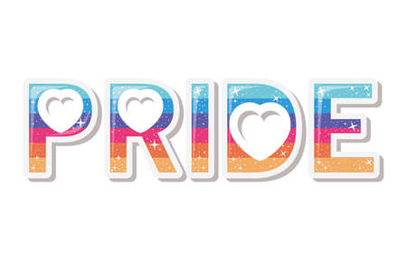 lgtbi pride text design, Pride day love sexual orientation and identity theme Vector illustration Vectores
