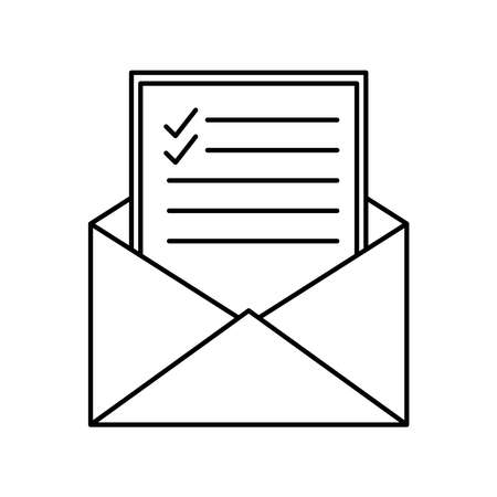 Envelope silhouette style icon design, Message email mail and letter theme Vector illustration