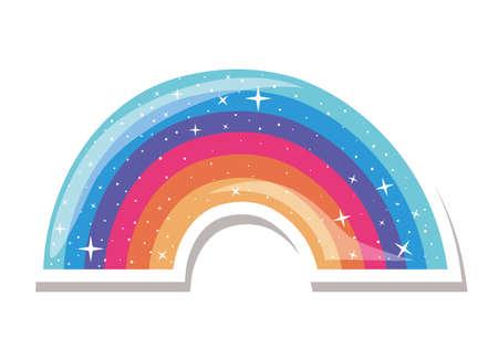 lgtbi rainbow design, Pride day love sexual orientation and identity theme Vector illustration