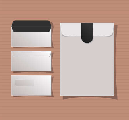 Mockup envelopes set design of corporate identity template and branding theme Vector illustration