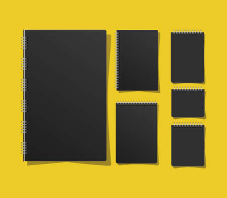 Mockup notebooks set design of corporate identity template and branding theme Vector illustration