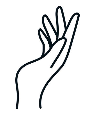 Sign with open hand design of People arm finger person learn communication healthcare theme Vector illustration