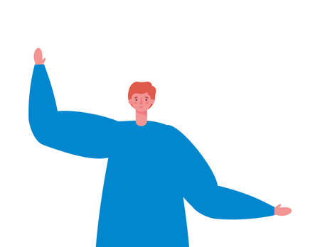 Avatar man cartoon design, Boy male person people human social media and portrait theme Vector illustration