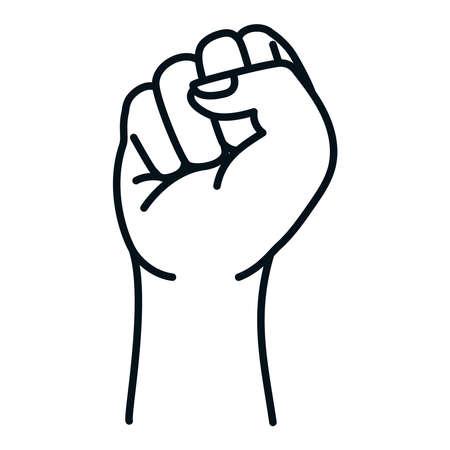 fist hand design, Manifestation protest and demonstration theme Vector illustration Ilustración de vector