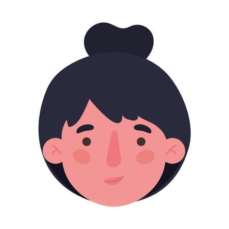 Avatar woman cartoon head design, Girl female person people human and social media theme Vector illustration Vectores