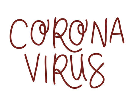 corona virus text design of Happiness positivity and covid 19 virus theme Vector illustration