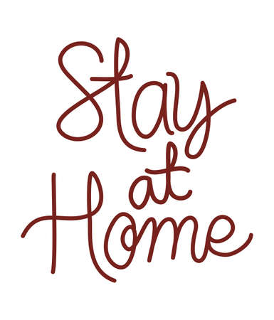 Stay at home text design of Happiness positivity and covid 19 virus theme Vector illustration