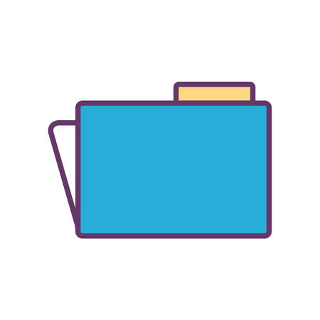 File line and fill style icon design, Document data archive storage organize business office and information theme Vector illustration Çizim