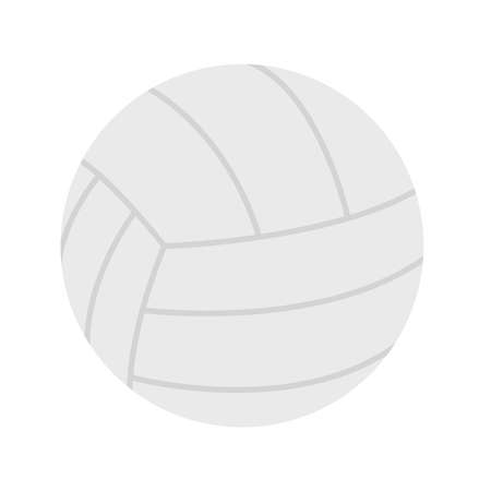 ball of volleyball flat style icon design, Sport hobby competition and game theme Vector illustration