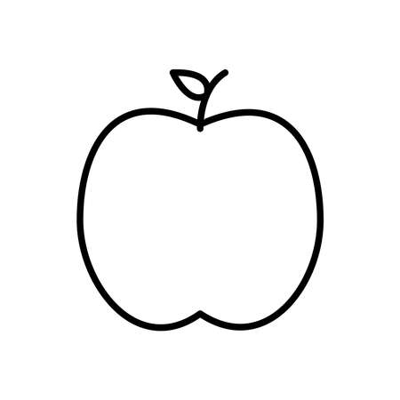 Apple line style icon design, Fruit healthy organic food sweet and nature theme Vector illustration