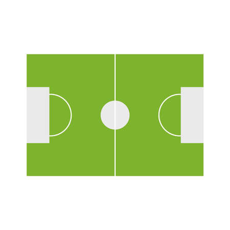 soccer court flat style icon design, Sport hobby competition and game theme Vector illustration
